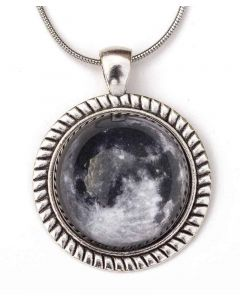 Glass Dome Moon Necklace