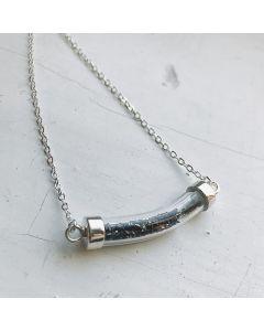 Stardust Vial Specimen Necklace with Meteorite