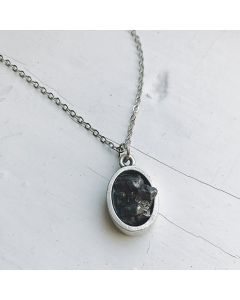 Oval Raw Meteorite Necklace