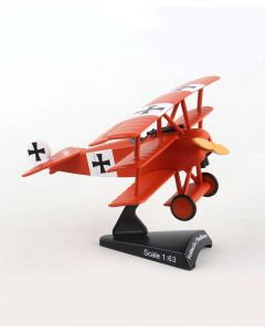 Fokker Dr.I Red Baron Postage Stamp 1:63 Model