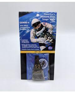 America's First Space Walk - Gemini 4 Medallion