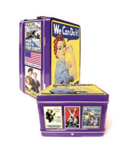 Small Rosie the Riveter Lunchbox