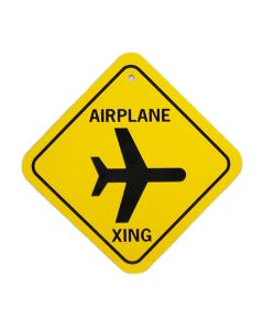 Small Airplane Crossing Sign