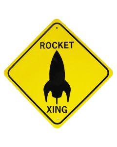 Large Rocket Crossing Sign