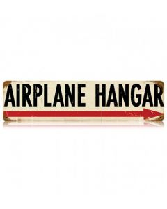 Airplane Hangar Arrow Sign