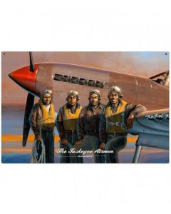 The Tuskegee Airman Stan Stokes Metal Sign