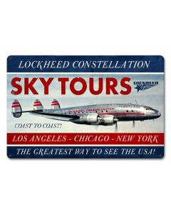 Sky Tours Lockheed Constellation Metal Sign