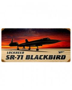 Lockheed SR-71 Blackbird Metal Sign