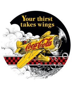 Coca-Cola Bee Gee Metal Sign