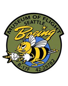 Boeing Bee Nose Art metal sign