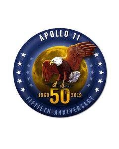 Apollo 11 50th Anniversary Metal Sign