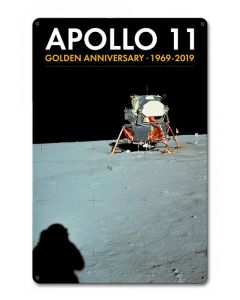 Apollo 11 50th Anniversary Lander on the Moon Sign