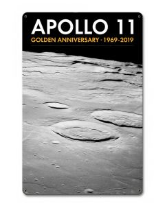 Apollo 11 50th Anniversary Moon Craters Sign