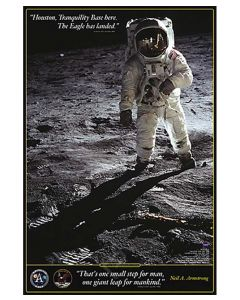 """Walk on the Moon 24""""x 36"""" Poster"""