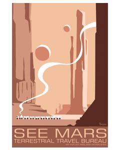 See Mars Terrestrial Travel Bureau Poster