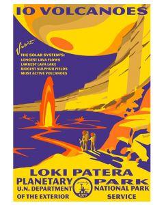 Loki Patera Planetary Park IO Volcanoes Poster