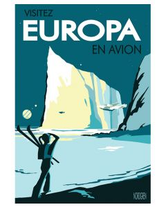 "Visitez Europa En Avion Travel Poster 12""x18"""