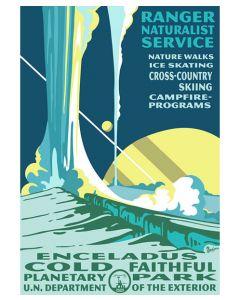 Enceladus Cold Faithful Planetary Park Poster