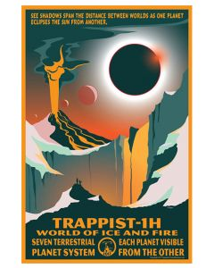 Trappist-1H World of Ice and Fire Poster