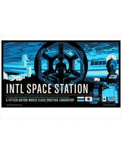 "International Space Station Print 13""x19"""