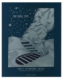 One Small Step Moon Boot Art Print