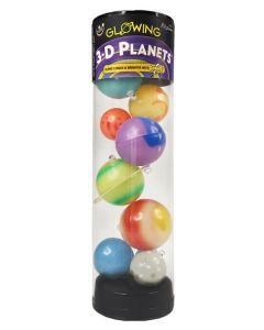 3-D Glow in the Dark Planets in a Tube