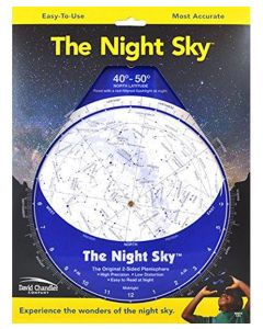 "Night Sky 8"" Planisphere 40-50 degrees N"