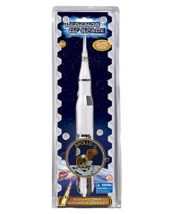 Saturn V Rocket Figurine With Patch