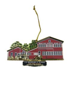 Boeing Red Barn Brass Ornament