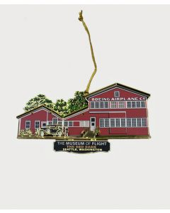Red Barn Lacquered Brass Ornament