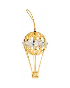 Gold Hot Air Balloon Ornament with Crystals