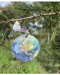 Wood Earth Ornament