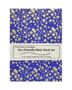 Handmade Gold Stars Note Card Set