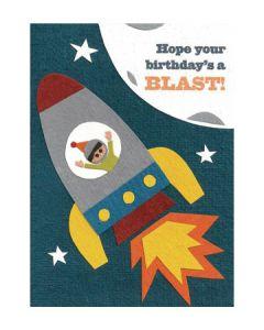Birthday Blast Handcrafted Card