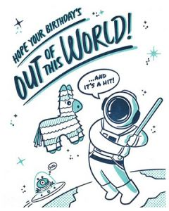 Astronaut Pinata Out Of This World Handcraft Card