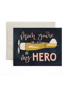 Mom You're My Hero Card