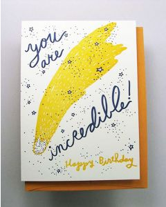 Comet Happy Birthday Card