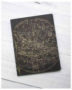 Astronomy Star Chart Vintage Softcover Notebook