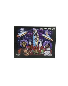 Henry Space Animals Mural Notecard