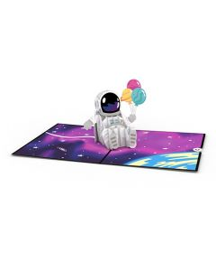 Space Birthday Lovepop 3D Card