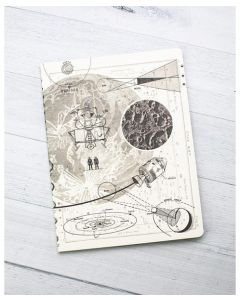 Moon Landing Softcover Dot Grid Notebook