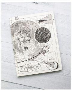 Hardcover Large Moon Landing Notebook