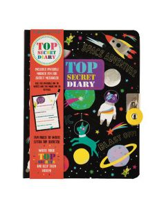 Space Top Secret Lockable Diary