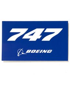 747 Rectangle Sticker Boeing