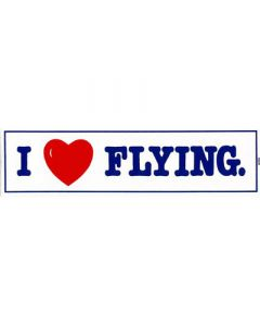 I Love Flying Bumper Sticker