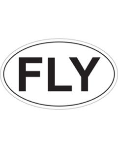 "FLY 5"" x 3"" Oval Sticker"