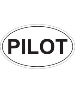 Pilot 5x3 Oval Sticker