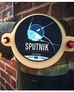 Sputnik Round Sticker