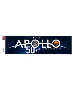 Apollo 50 Next Giant Leap Bumper Sticker