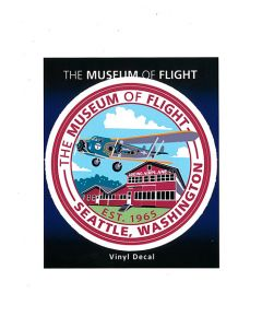 The Museum of Flight 80A Red Barn Sticker